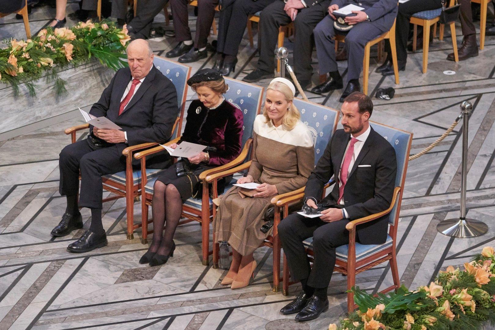 Крал Хералд, кралица Соня, принцеса Мете-Марит и принц Хаакон
