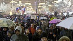Хиляди сърби протестираха срещу Вучич