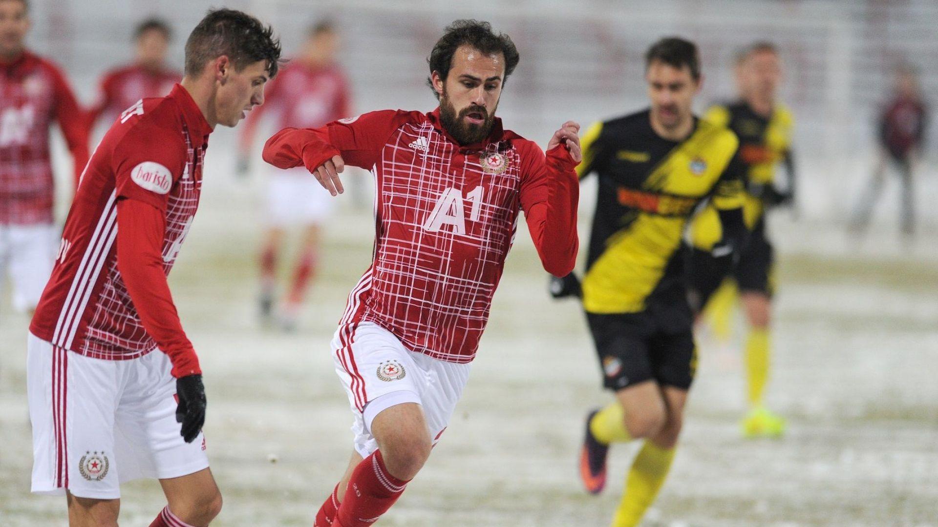 ЦСКА потрепери, но излъга Ботев в снега