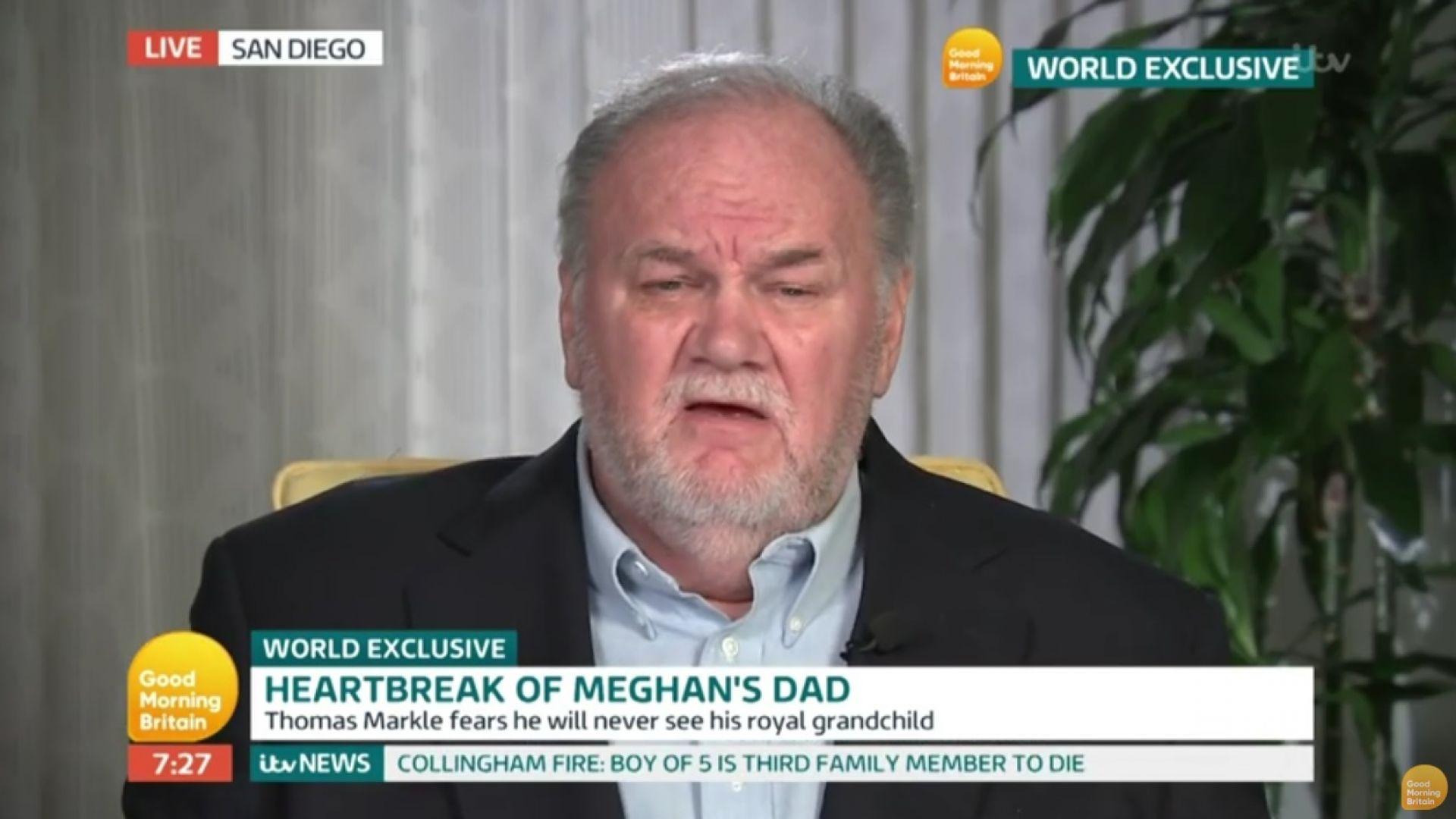Бащата на Меган се надява Елизабет II да му помогне да се сдобри с дъщеря си