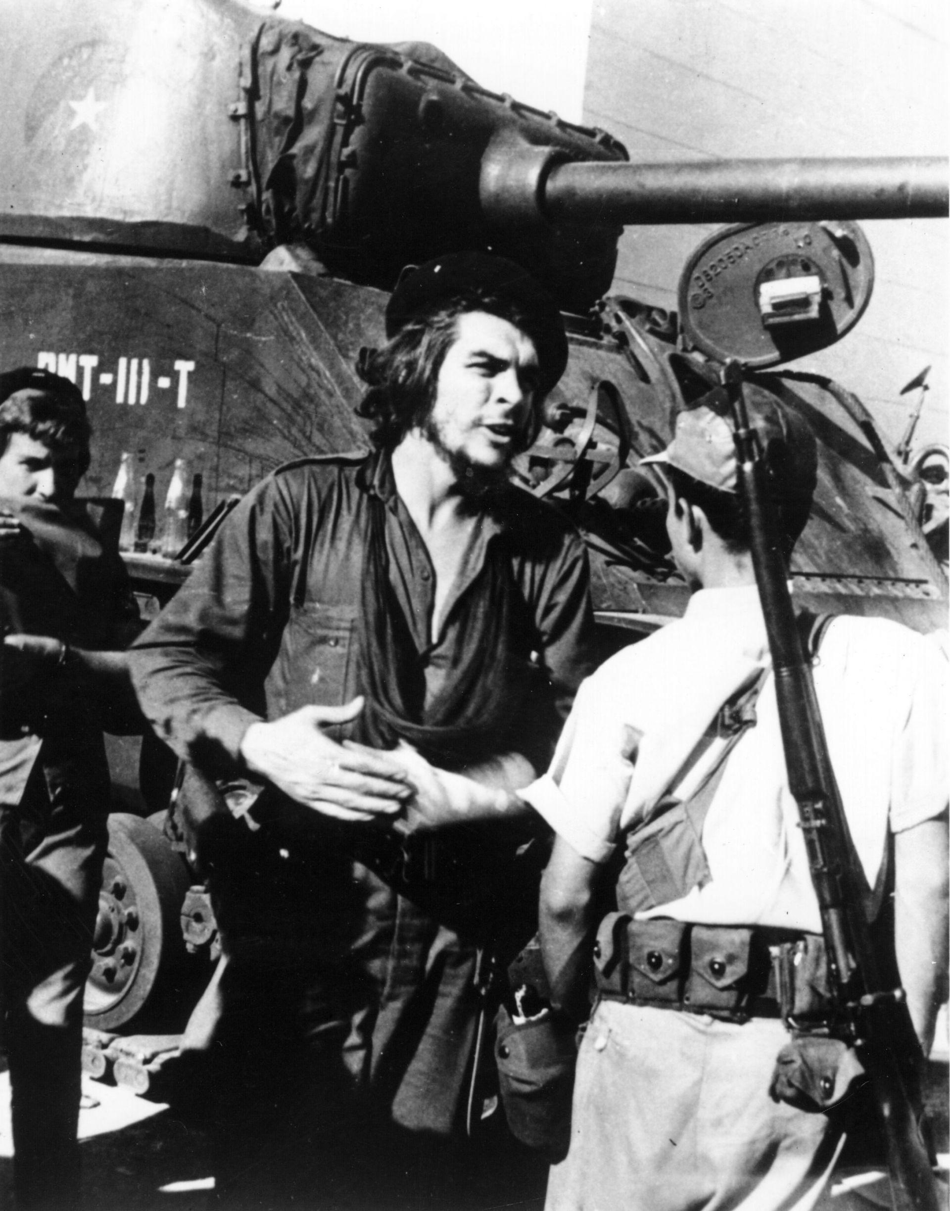 Че Гевара по време на битката за Санта Клара