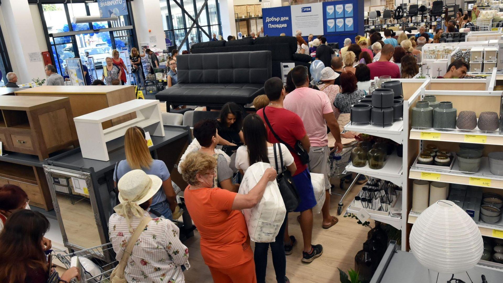 Наемите на магазини: 52 евро/кв. м на търговска улица и 34 -в търговски център