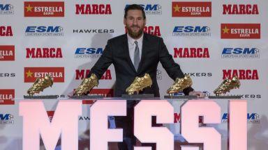 В шкафа за обувки на Меси вече няма място - и пет са от злато