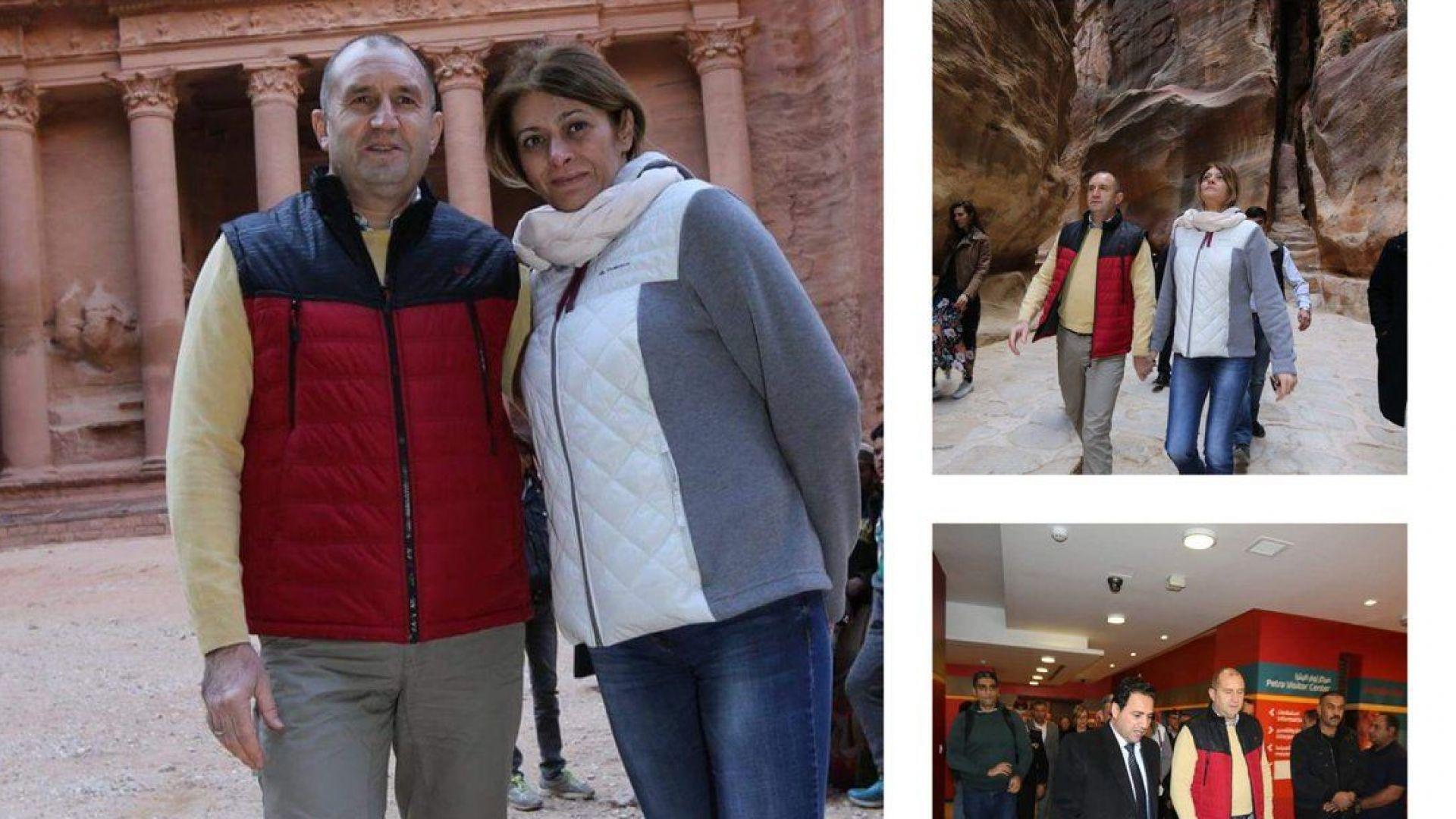 Десислава и Румен Радеви посетиха древния град Петра