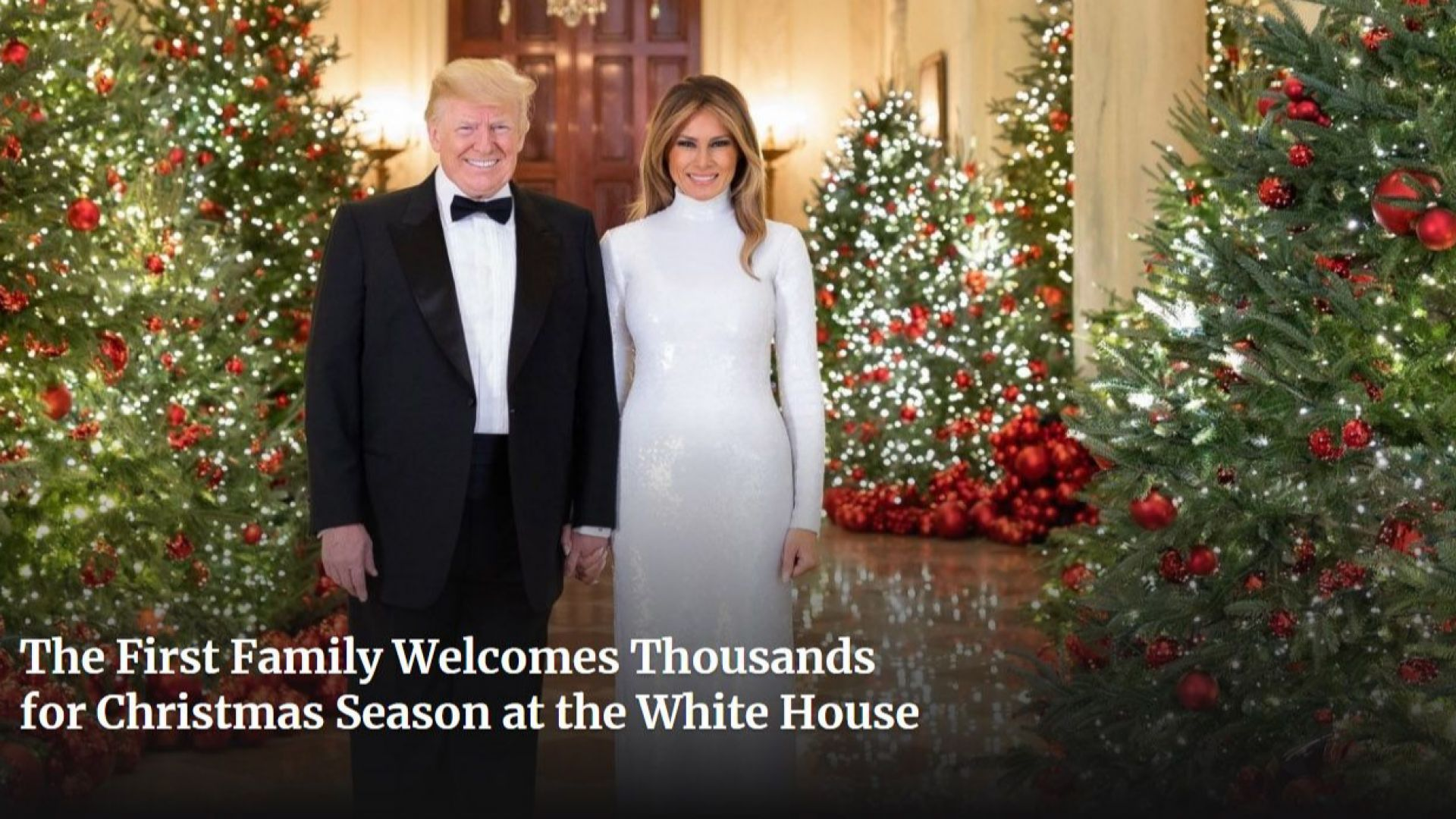 Коледната картичка на Доналд и Мелания - силно критикувана