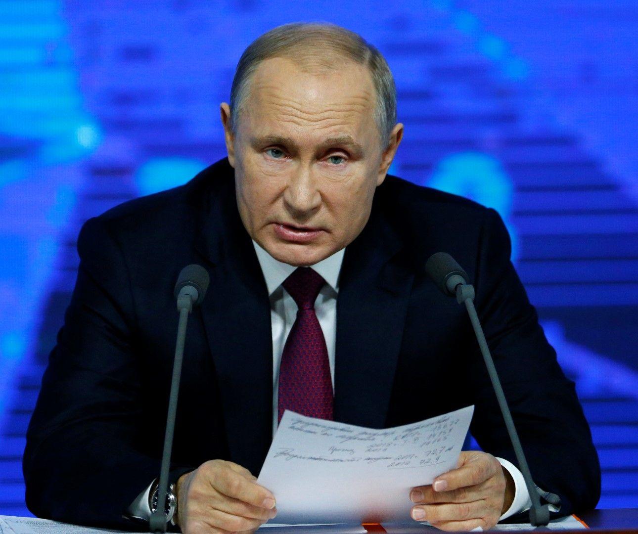 Вярно е, че ИДИЛ в Сирия е победена, каза Путин след подобно изявление на Доналд Тръмп