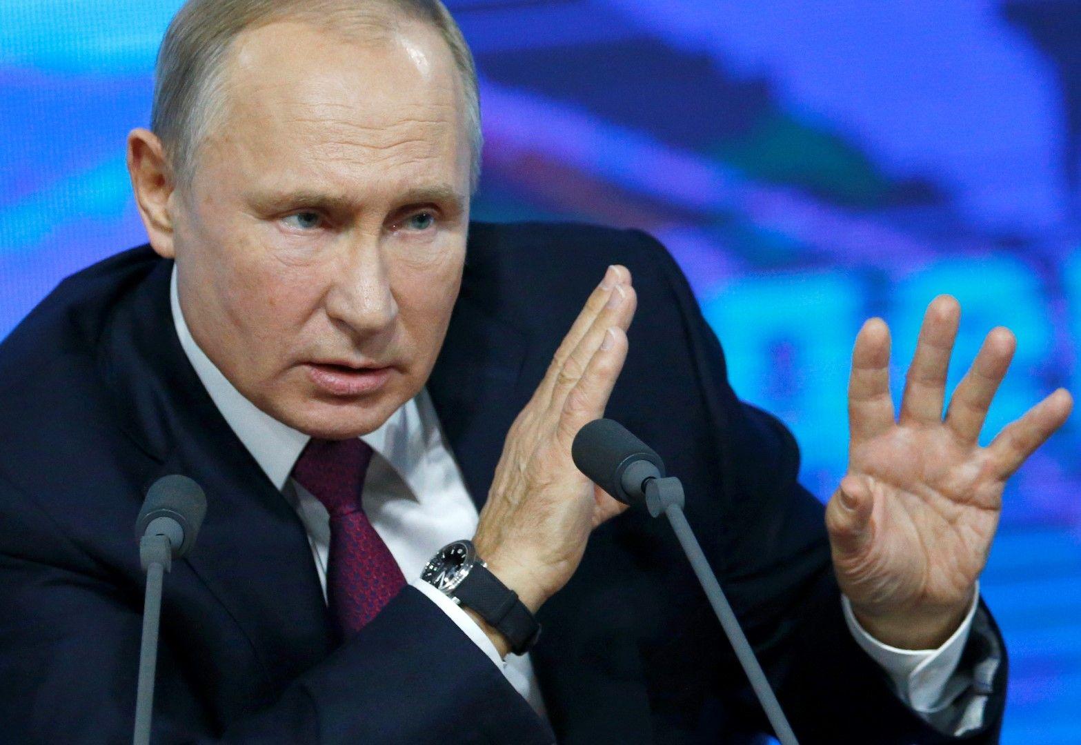 Няма да забраним долара, каза Путин