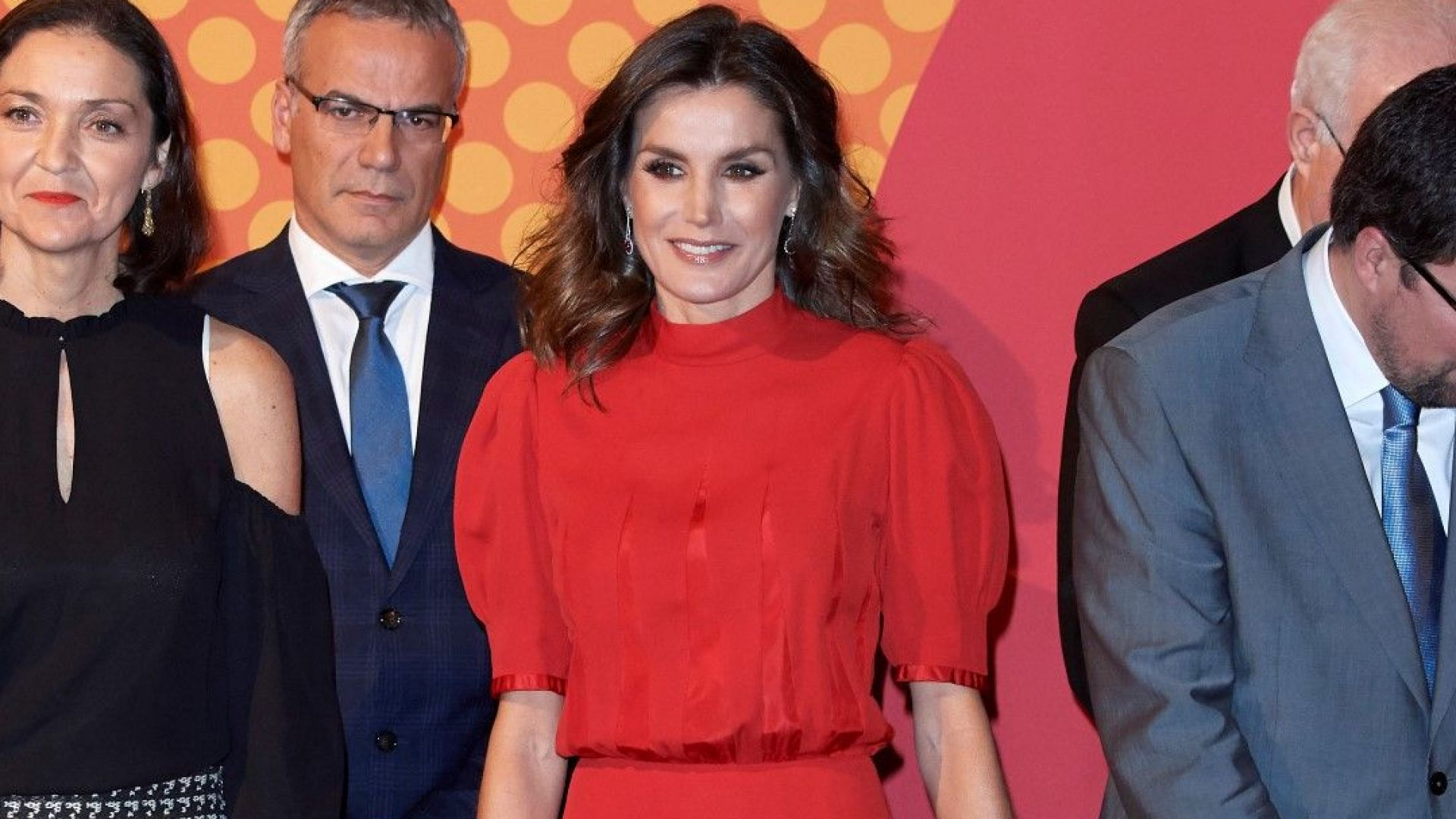 Летисия с тоалет на свекърва си от 1980 на Испанските модни награди