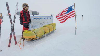 Американец прекоси Антарктика без чужда помощ (видео)