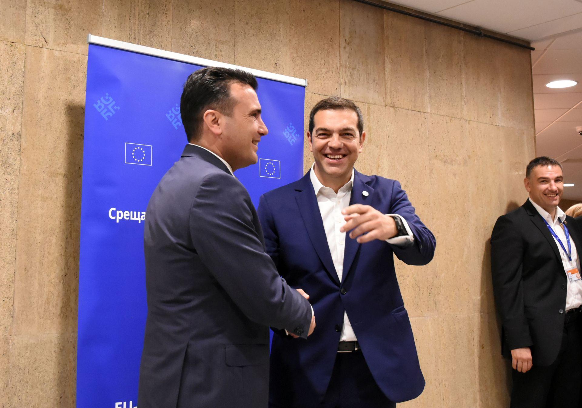 Премиерите на Гърция и Македония Алексис Ципрас и Зоран Заев подготвят знаменитото споразумение