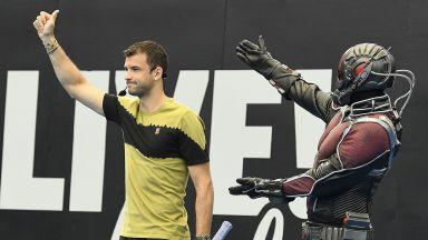 Григор записа победа на баскетбол и игра тенис със Супергерои (снимки и видео)