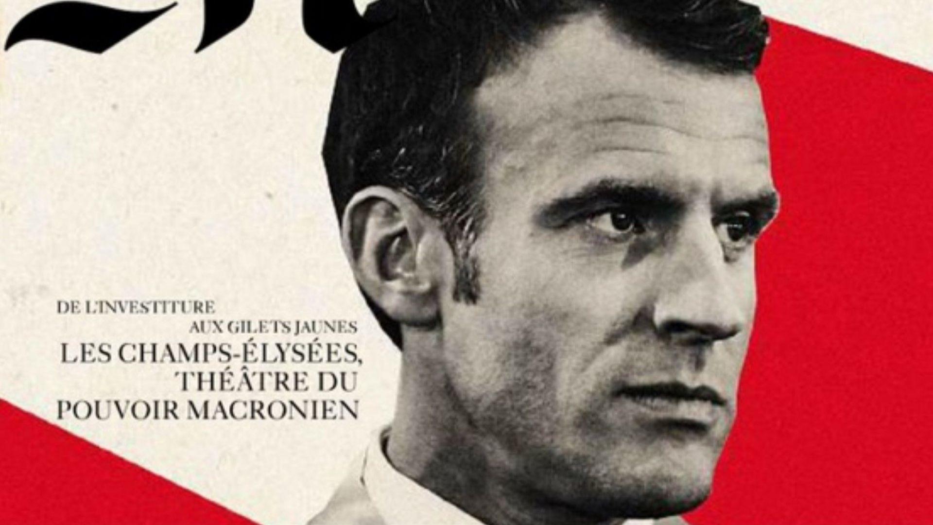 """""""Монд"""" се извини заради снимка на Макрон, в която читатели откриха сходство с Хитлер"""