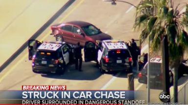 Тричасово зрелище в Калифорния: Полицейско преследване на бивш военен