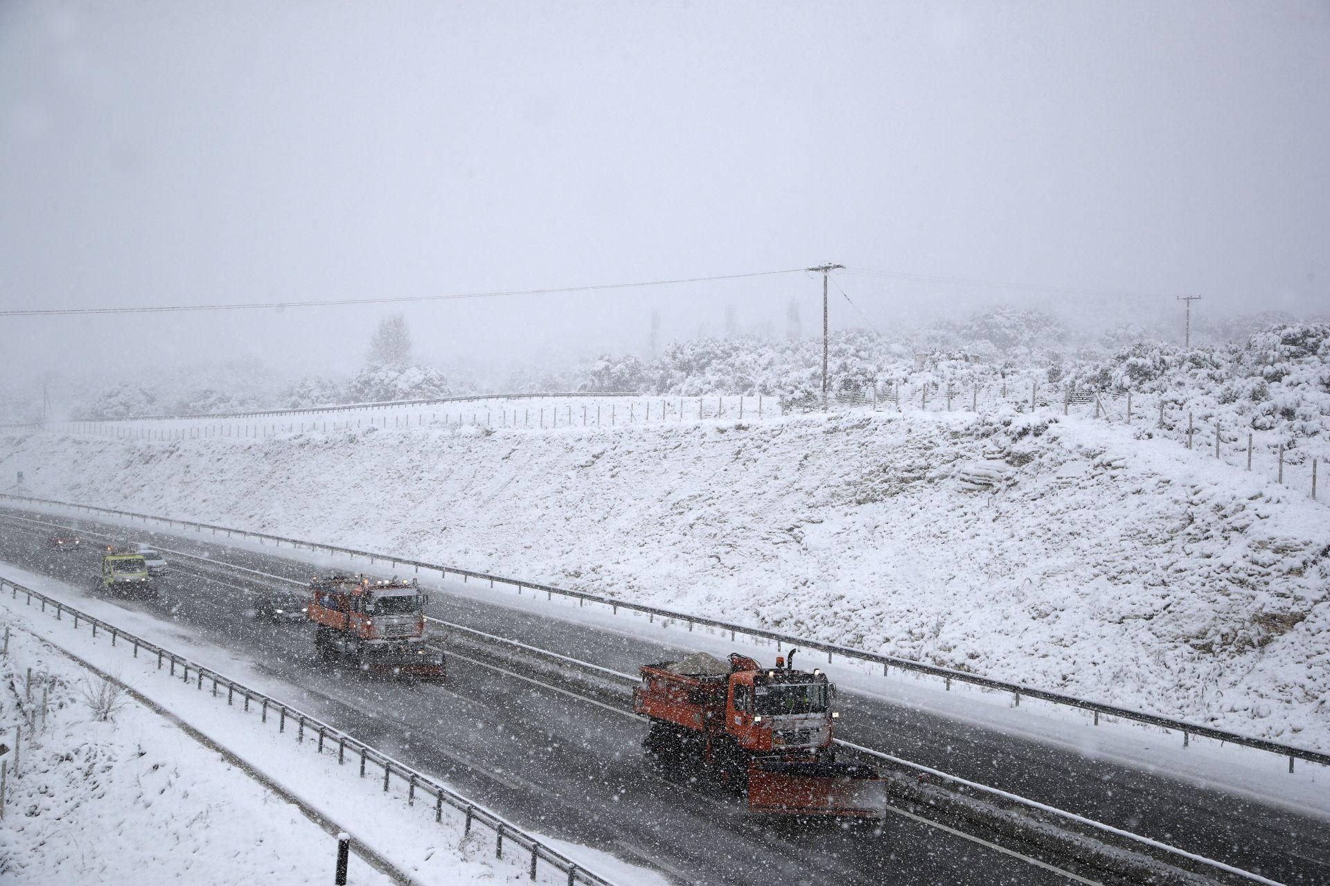 Снежна обстановка в Северозападна Гърция