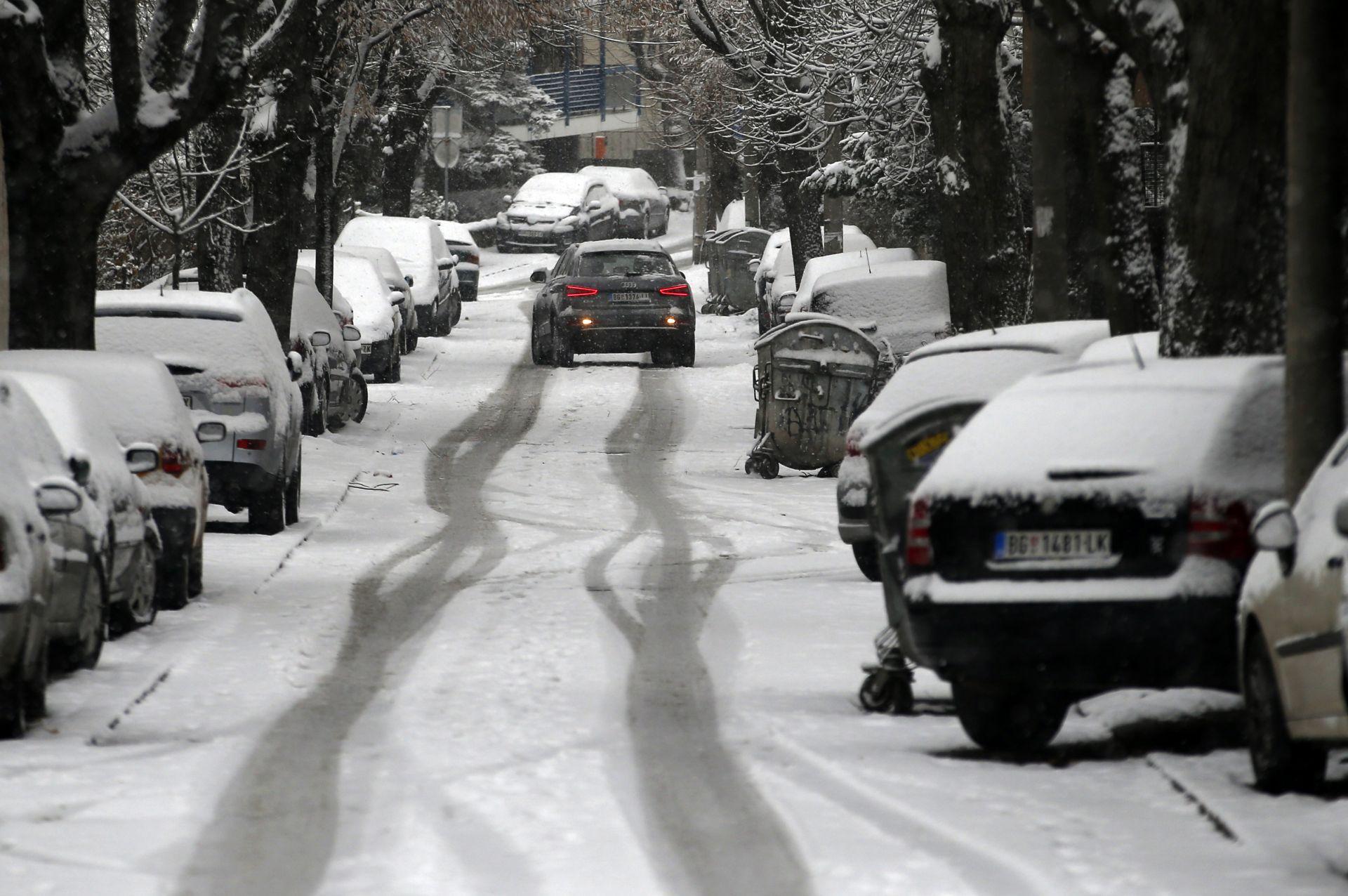 Снежна картина от Белград