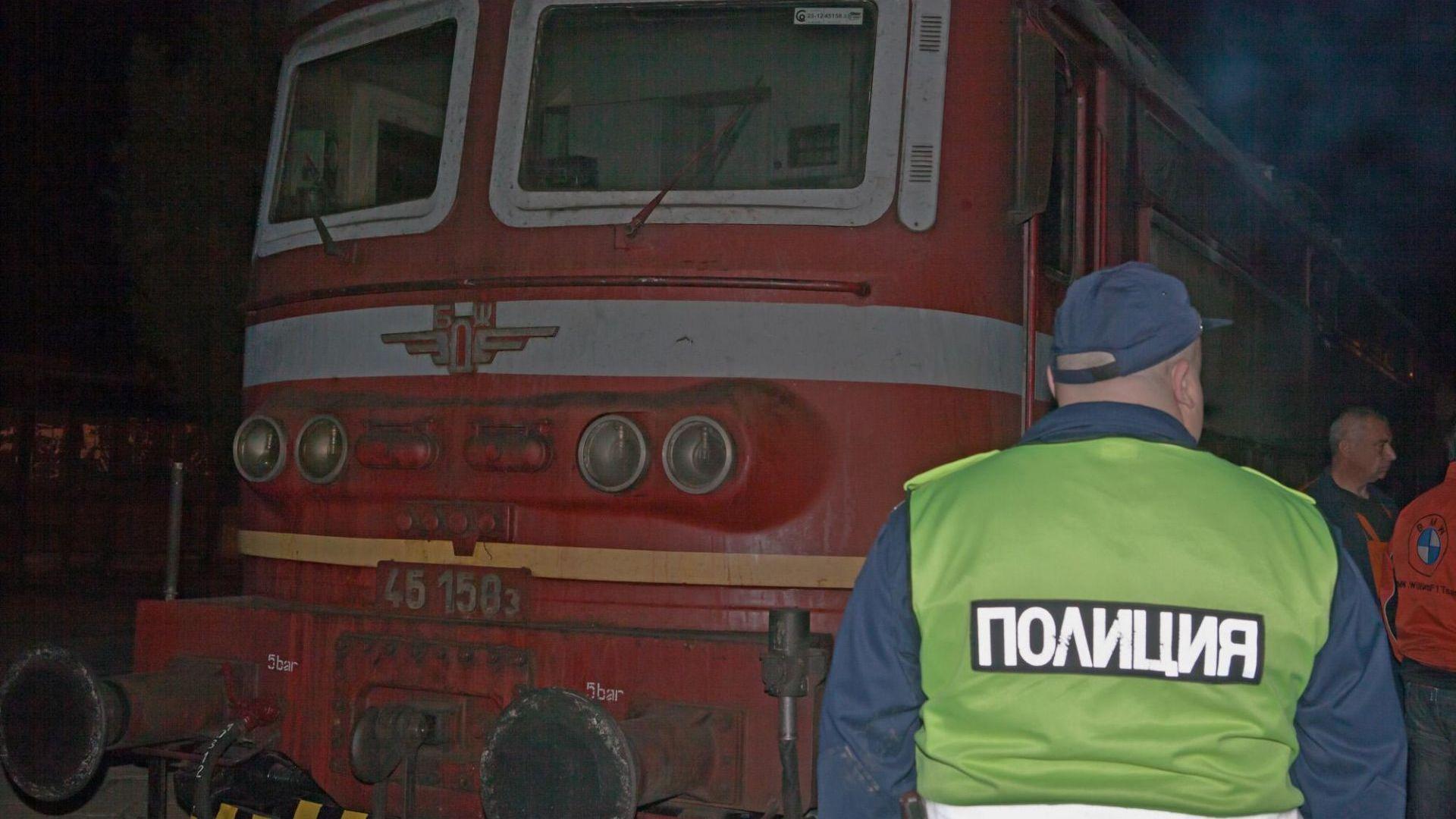 Пламна локомотивът на влака Ямбол-Бургас