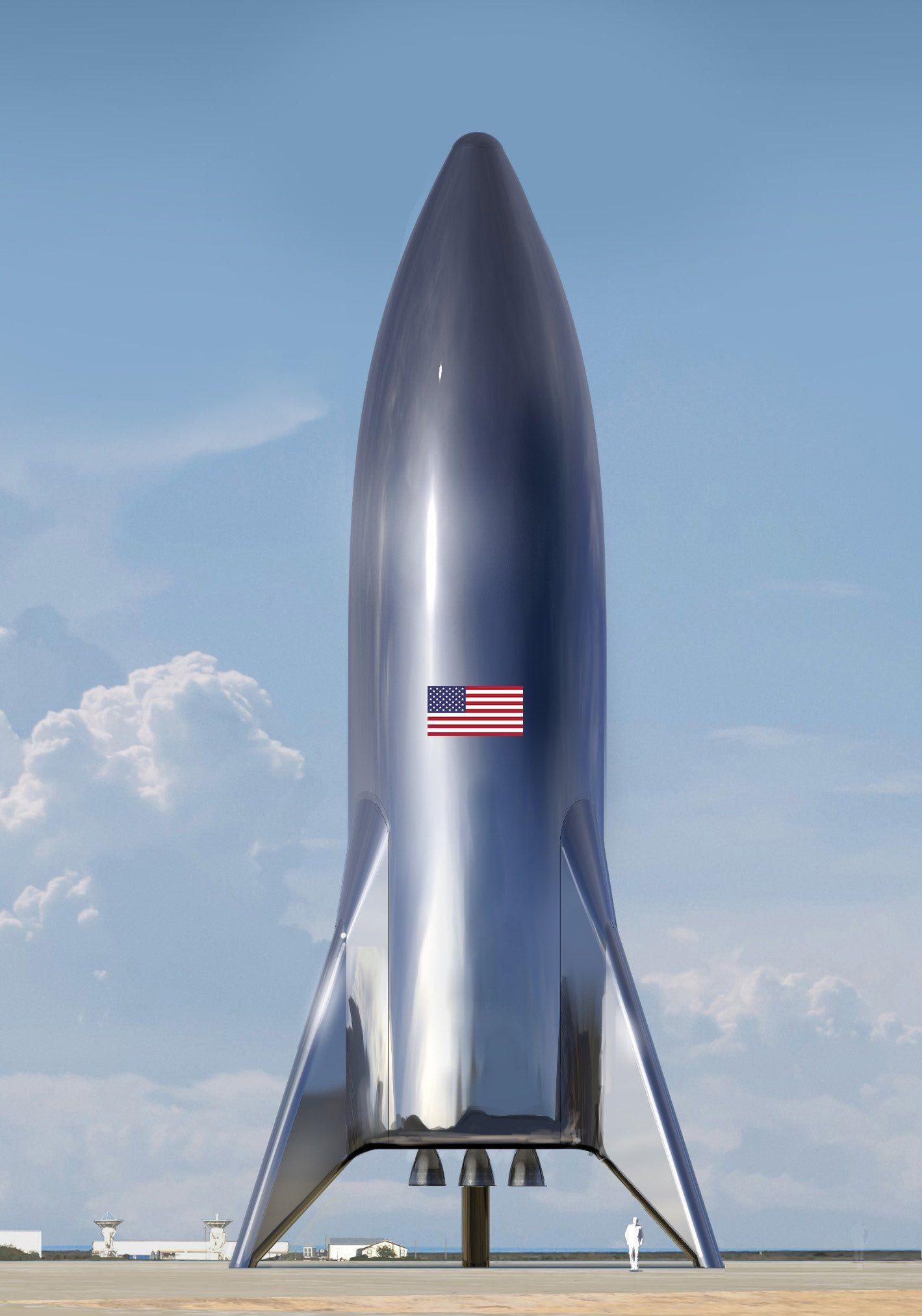 Така трябва да изглежда завършената тестова версия на Starship