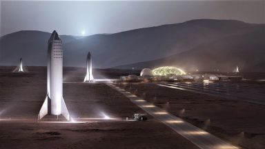 SpaceX ще прави Starlink и около Марс
