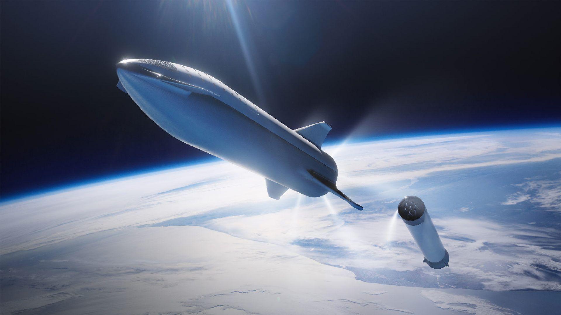 Вижте пътническия космически кораб на Илон Мъск (видео)