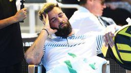 Френска тенис звезда задряма по време на мач