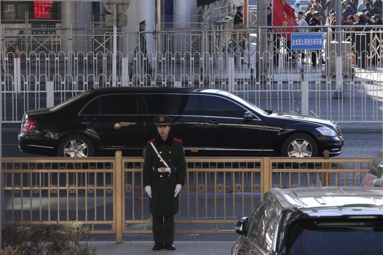 Лимузината, в която се смята, че е Ким в Пекин
