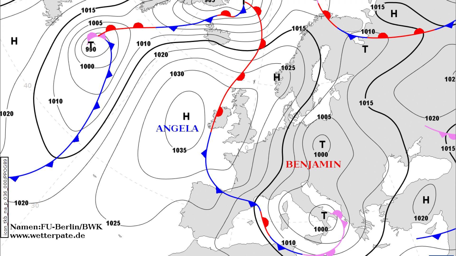 Циклонът Бенджамин носи валежи и по-меко  време