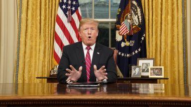 Обръщението на Тръмп: Без извънредно положение, но със стоманена ограда