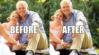 Австралийският премиер се оказа с два леви крака заради нескопосан Фотошоп