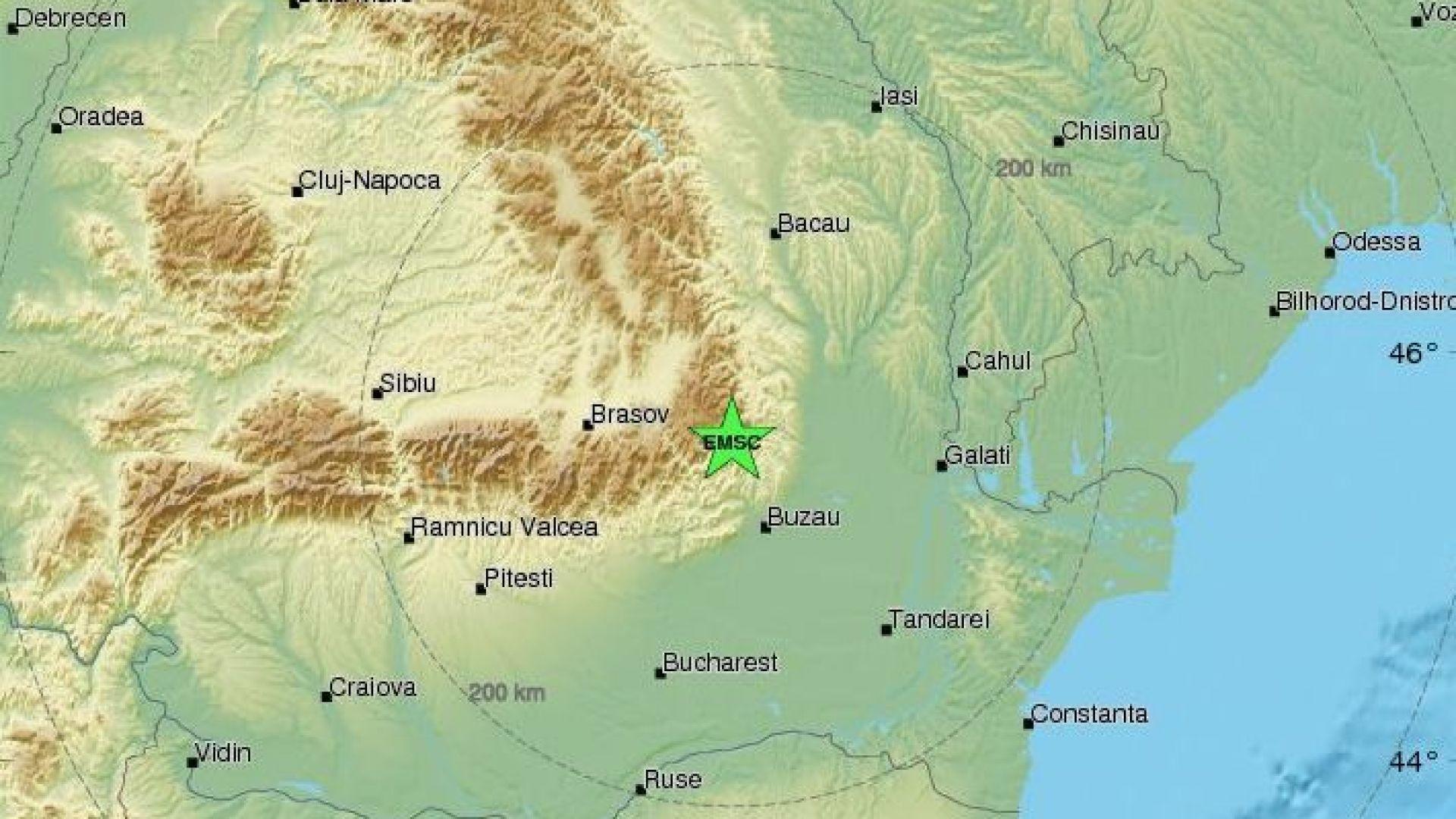 Земетресение със сила от 4,2 по Рихтер във Вранча