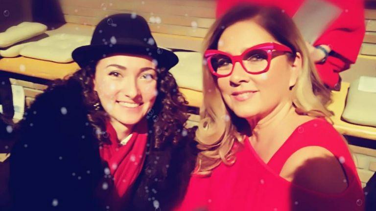 С Ромина Пауър на Седмицата на модата в Милано