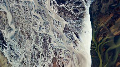 Крехката природа на пътищата на водата, снимани отвисоко