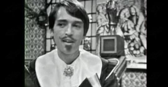 """Николай Узунов в """"Скъперникът"""" на Молиер през 1972 година"""