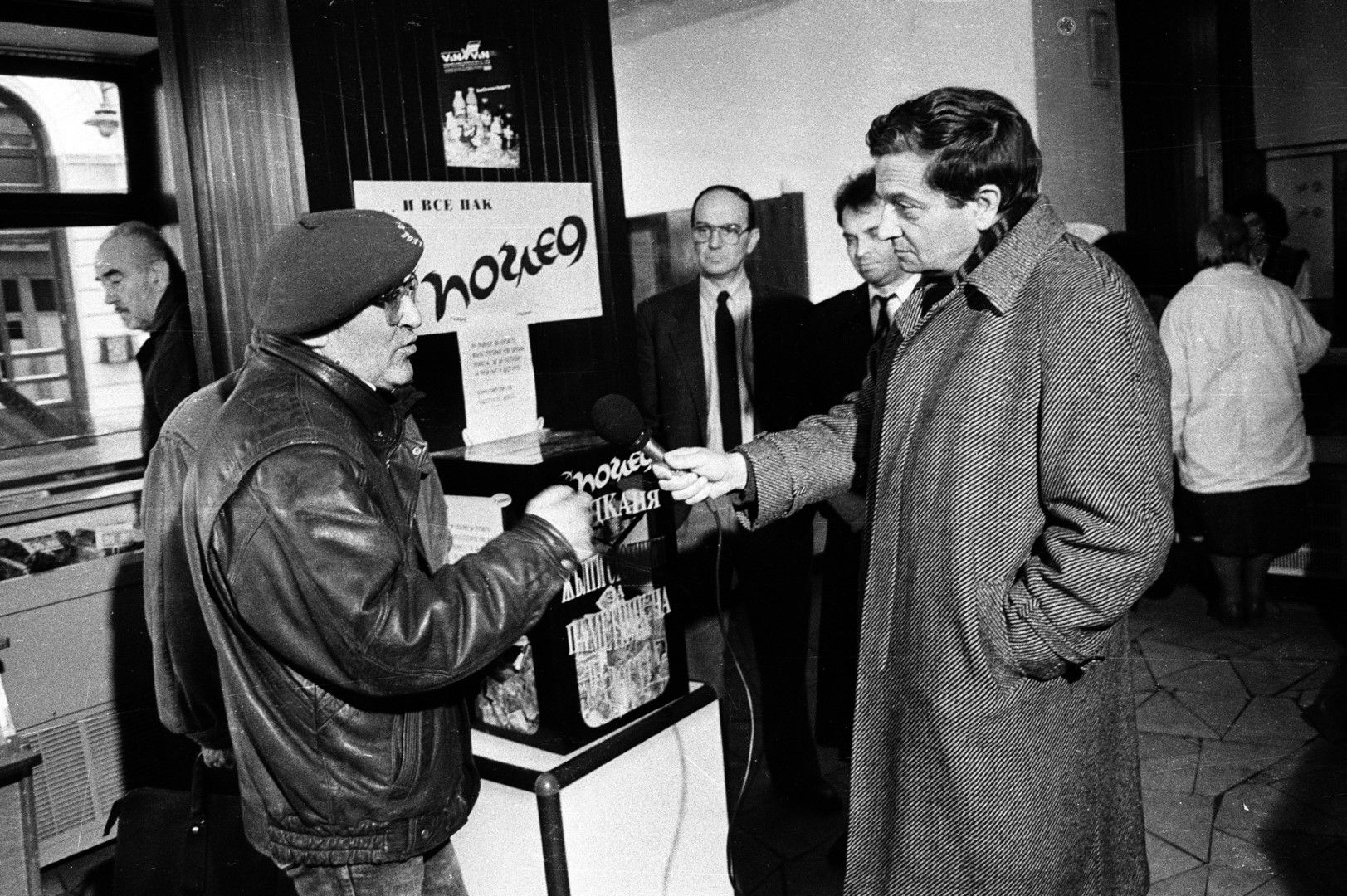 Величко Скорчев (вдясно) в разговор с Георги Стойчев (Снимка: Иван Григоров/Dir.bg)