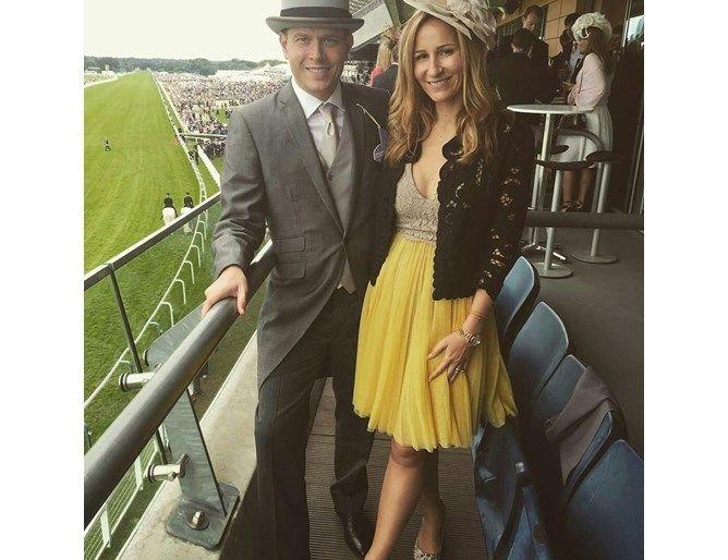 Детелина Събева с мъжа си Лоран Келен на конни състезания