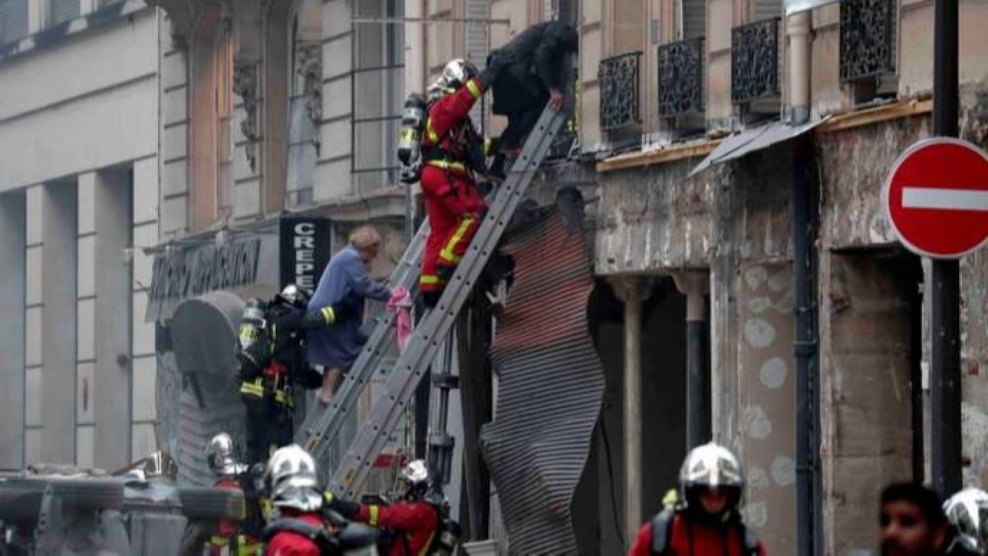 Няколко ранени при голяма експлозия в Париж (обновена)