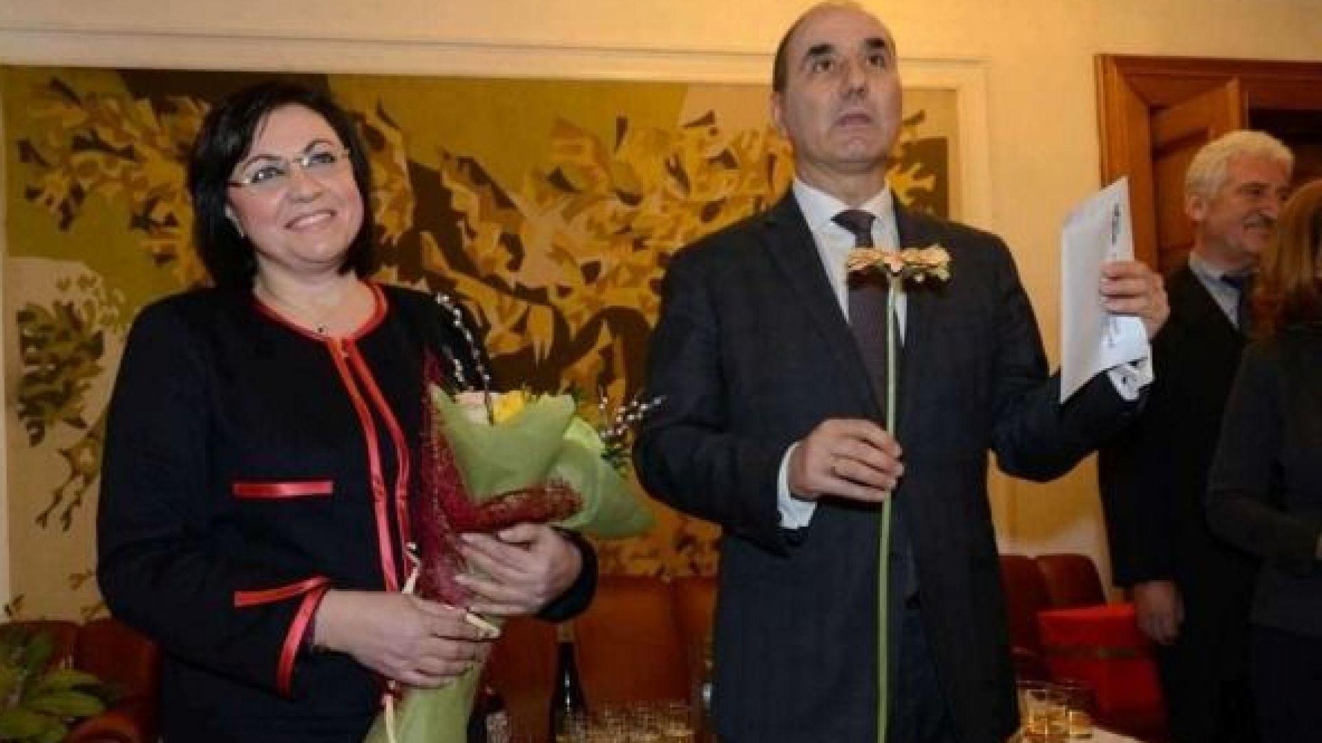 5000 лева и гербер от ГЕРБ за рождения ден на Нинова