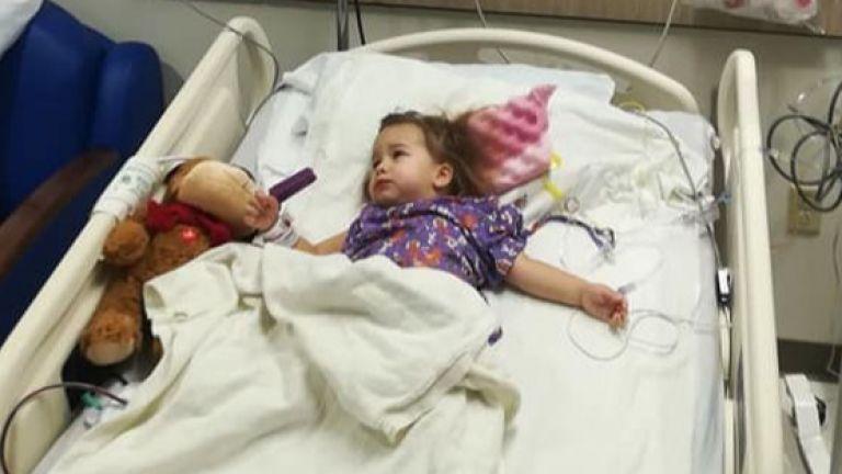 Малката Лори е герой, операцията й в САЩ мина успешно