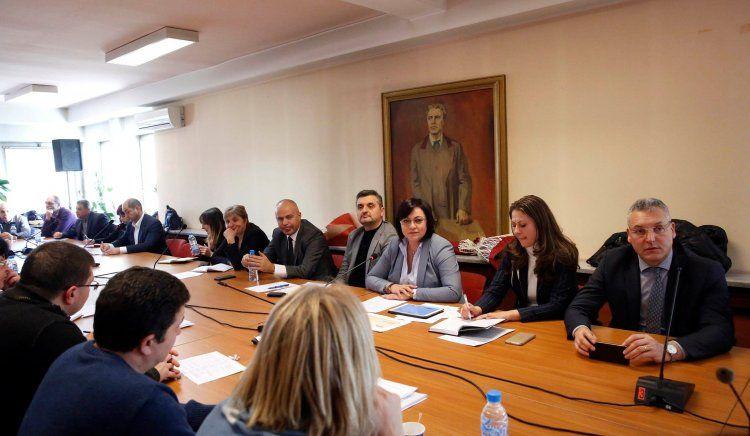 Корнелия Нинова събра всички областни председатели на БСП за старта на новата политическа година
