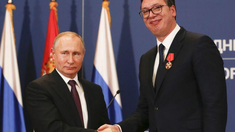 """Путин: Русия е готова да вложи 1,4 милиарда евро за """"Турски поток"""" през Сърбия"""