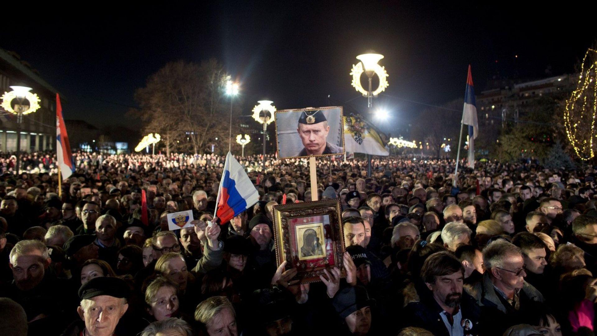Над 100 000 души посрещнаха с аплодисменти президента на Русия