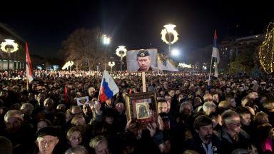 """Над 100 000 души посрещнаха Путин в храма """"Свети Сава"""""""