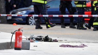 Мъж се самозапали в центъра на Прага (видео)