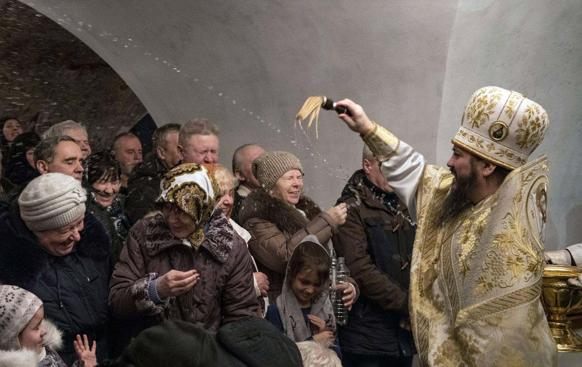 По време на празненствата на православното Богоявление в Москва