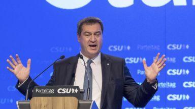 Баварският лидер Зьодер излиза на националната сцена в Германия