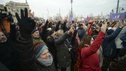 """Хиляди унгарци протестираха срещу """"робски закон"""" (снимки)"""