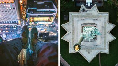 Фотограф снима Ню Йорк от главозамайващи ракурси