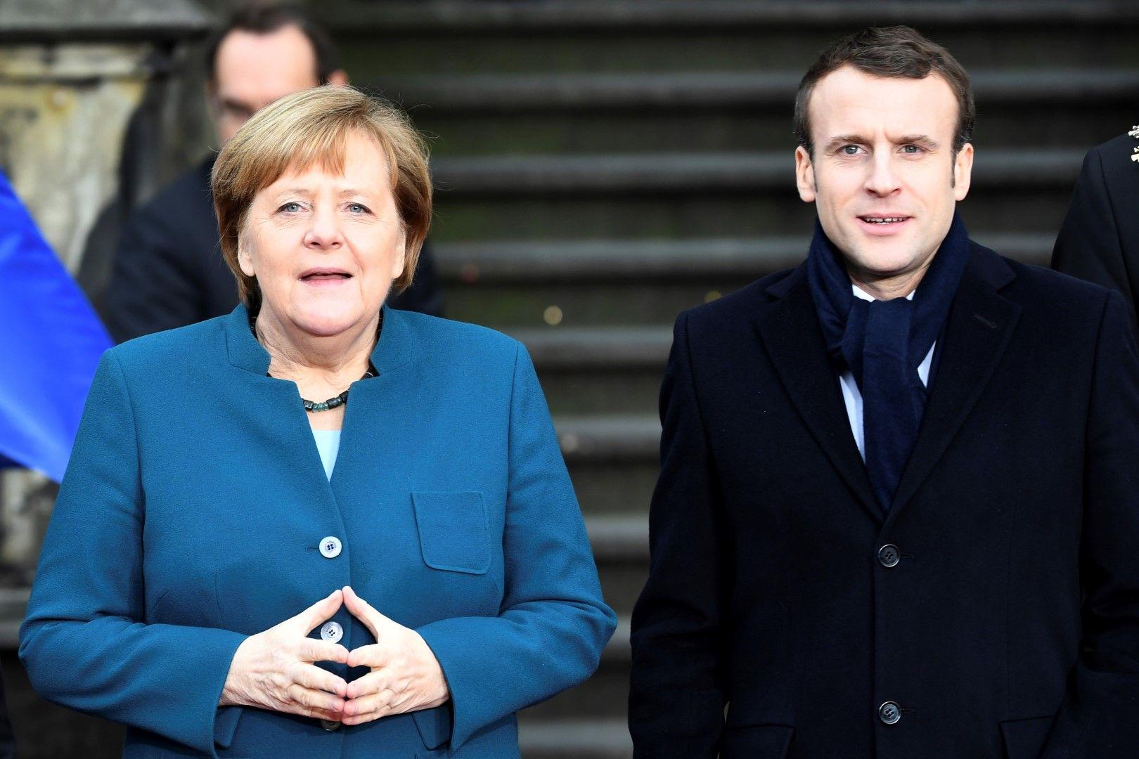 Ангела Меркел подкрепя старта на преговорите със Скопие, но Еманюел Макрон смята, че те не са готови за това