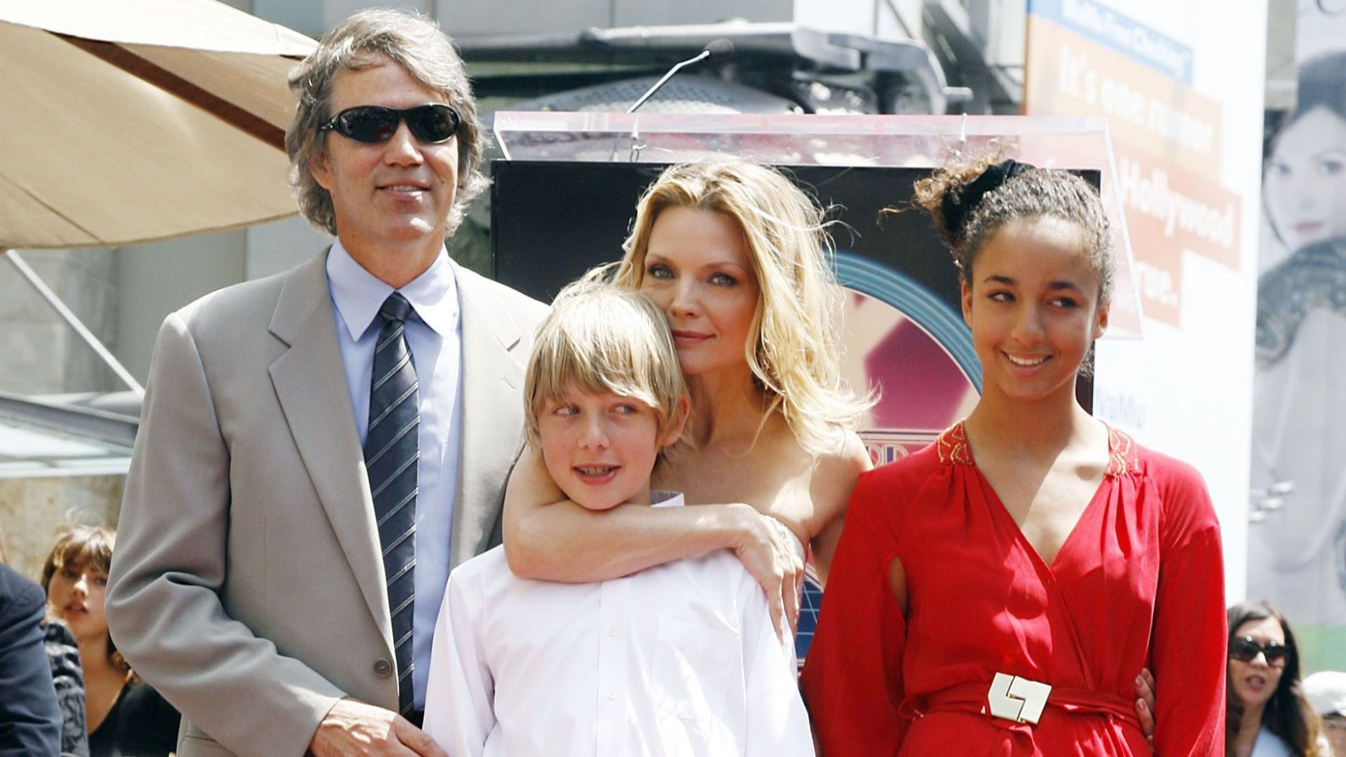 Michelle Pfeiffer and David E. Kelly with their children