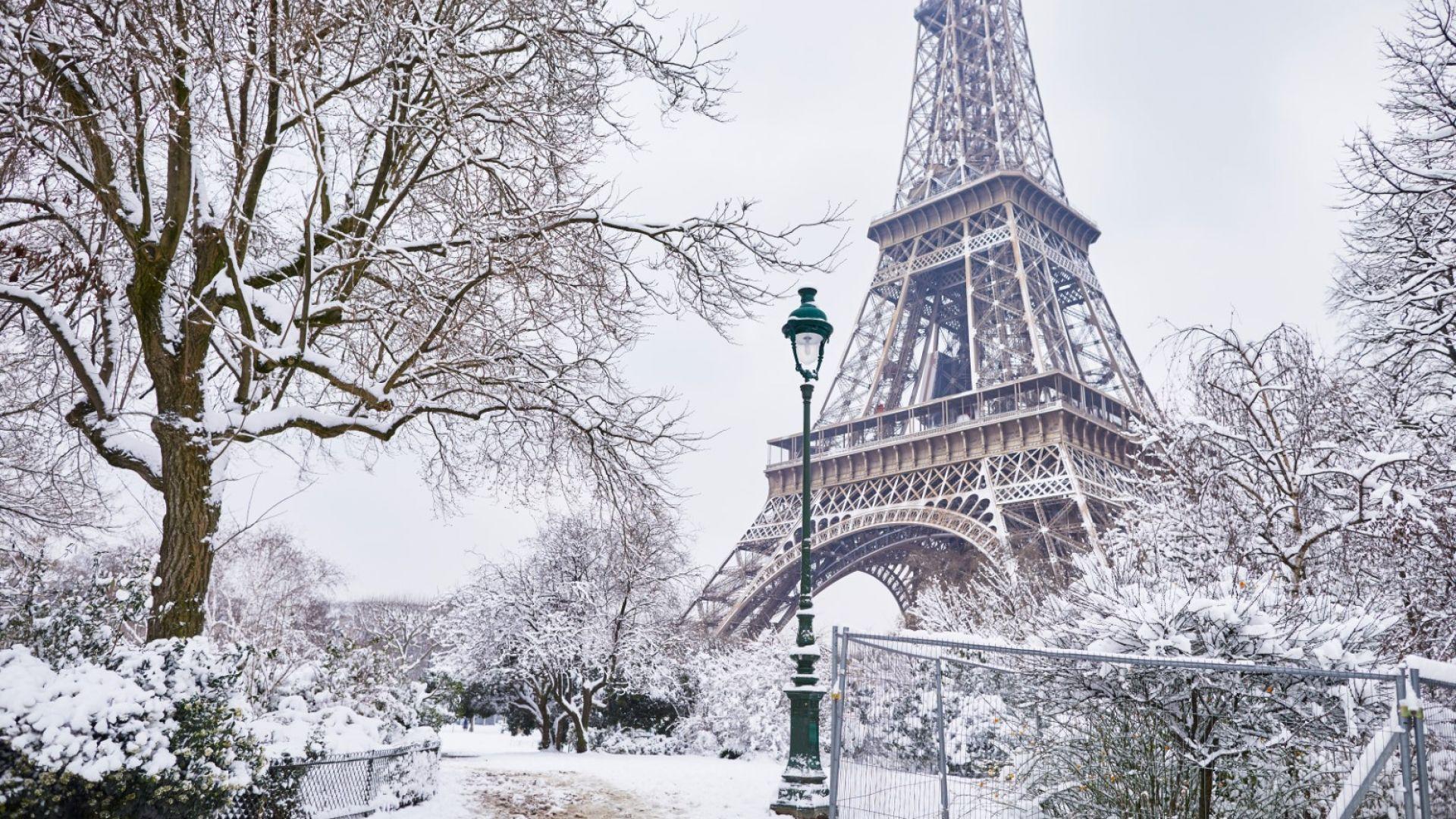 Снеговалеж в Париж - кратко видео