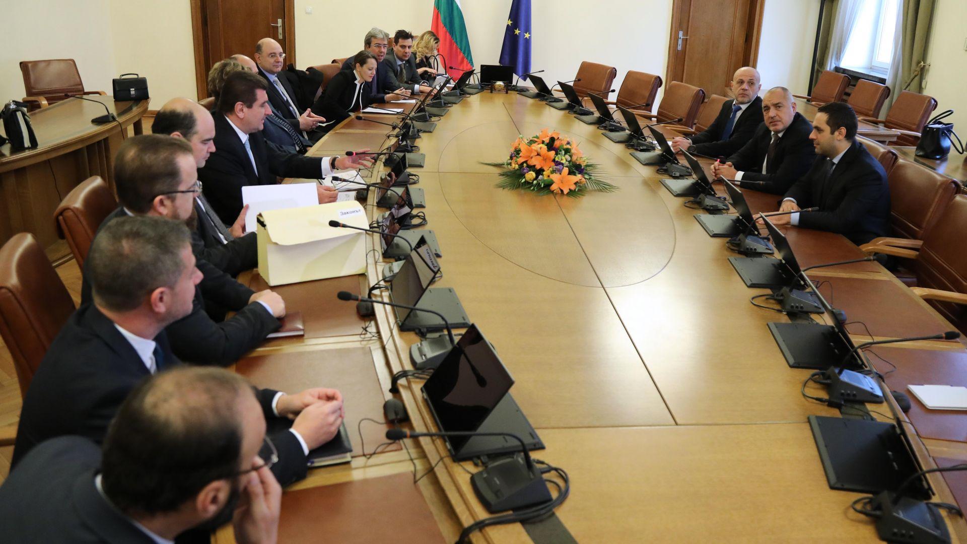 Министър-председателят Бойко Борисов се срещна с представители на Българската петролна